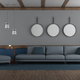 Blue and gray elegant living room - PhotoDune Item for Sale