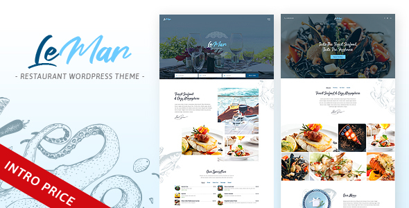 LeMar - Seafood Restaurant WordPress Theme
