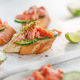 Toasts with fresh cucumber and smoked salmon - PhotoDune Item for Sale