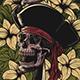 Floral Pirates T-Shirt Design llustration