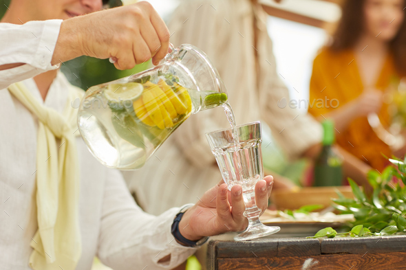 Refreshing Lemonade Close Up - Stock Photo - Images