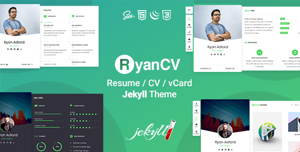 RyanCV - Resume CV & vCard Jekyll Theme