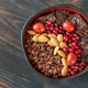 Bowl of red quinoa with nuts and sun-dried tomatoes - PhotoDune Item for Sale