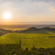 Summer nature scenery at sunset with green forests and meadow and blue sky - PhotoDune Item for Sale