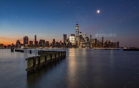 New York City Skyline at Sunrise - Stock Photo - Images