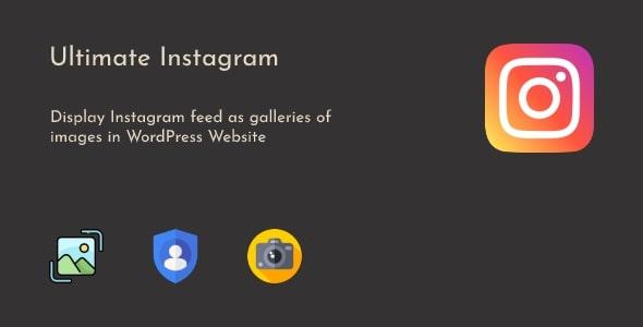 Ultimate Instagram - WordPress Instagram Feed Gallery