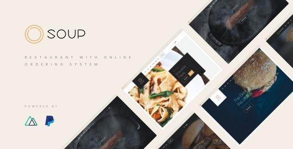 Soup - NuxtJS / VueJS Restaurant with Online Ordering System Template