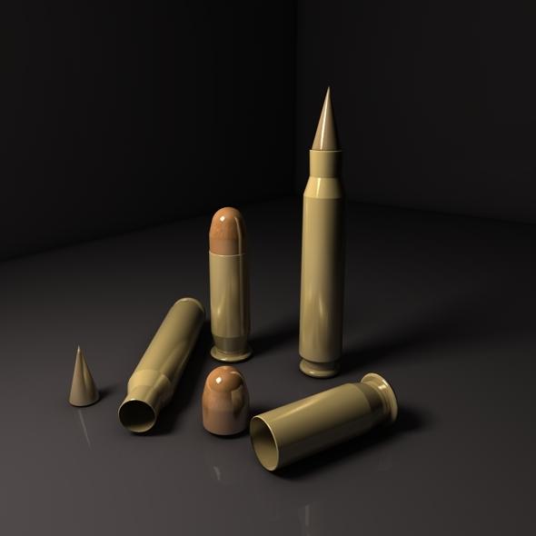 Bullet Combo Pack - 3DOcean Item for Sale