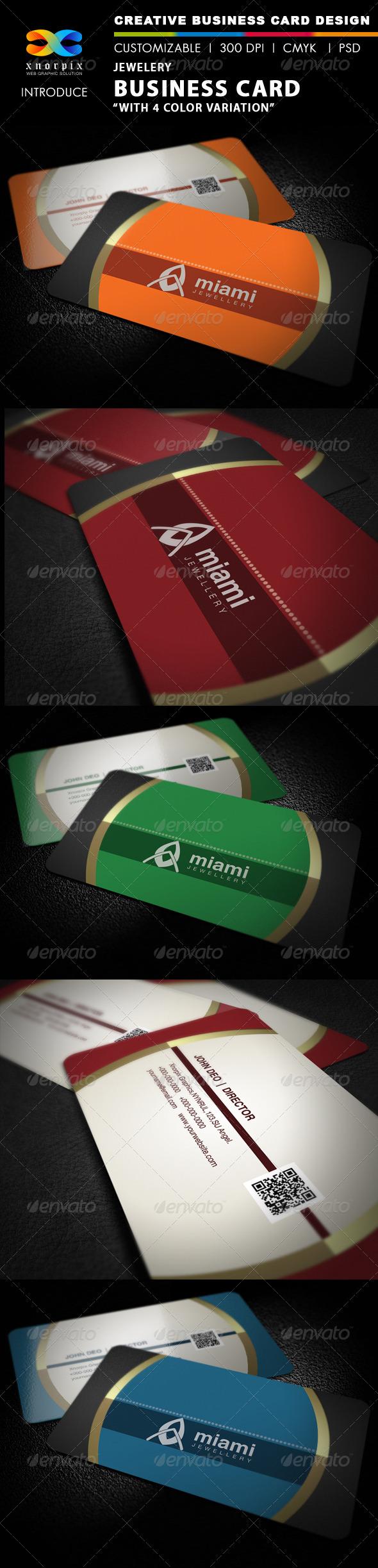 Jewellery Business Card - Corporate Business Cards