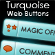 Turquoise Web Buttons - GraphicRiver Item for Sale