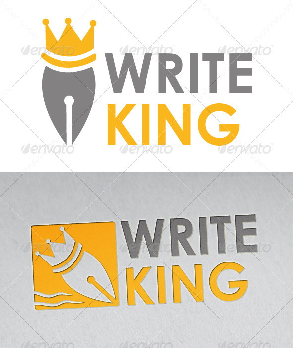 Writer King Logo - Objects Logo Templates