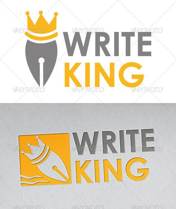 Writer King Logo - Objects Logo Templates