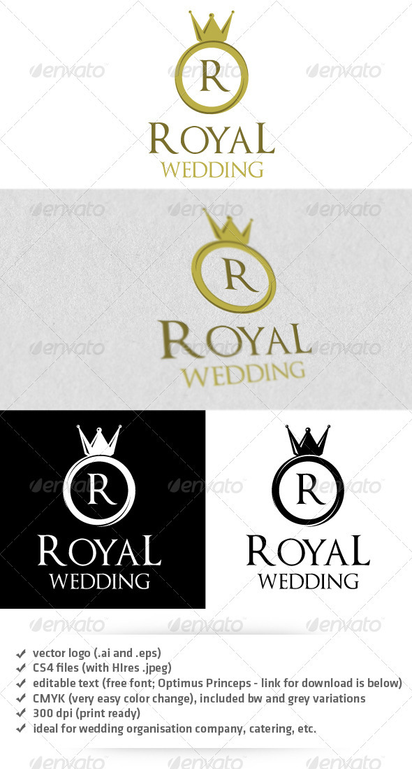 Royal Wedding Logo - Objects Logo Templates