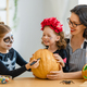 Happy family preparing for Halloween. - PhotoDune Item for Sale