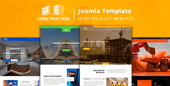 Construction – Joomla Template with Pre Built Websites