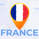 France Map - French Republic Travel Map - VideoHive Item for Sale
