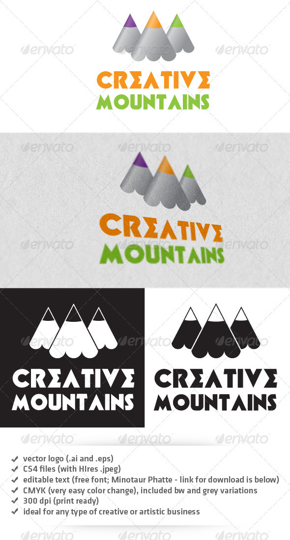 Creative Mountains Logo - Nature Logo Templates