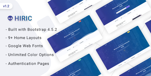 Hiric - Landing Page Template