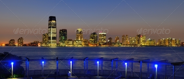 New Jersey Cityscape - Stock Photo - Images