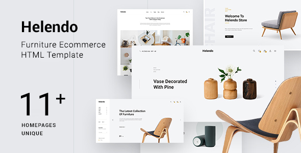Helendo – Furniture eCommerce HTML Template