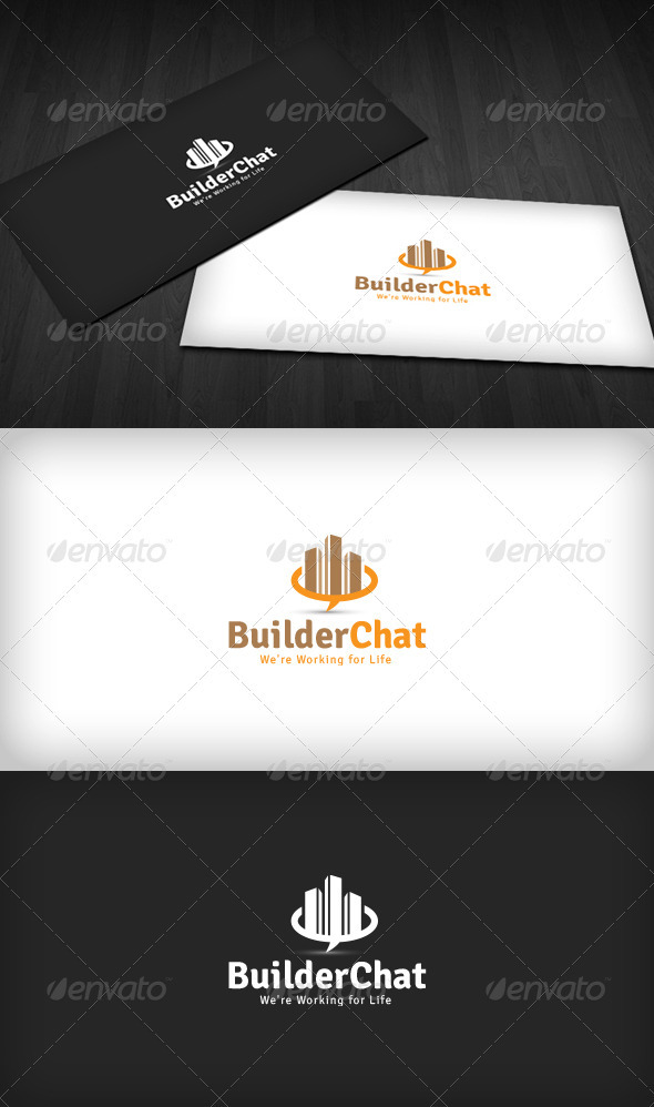 Builder Chat Logo - Buildings Logo Templates