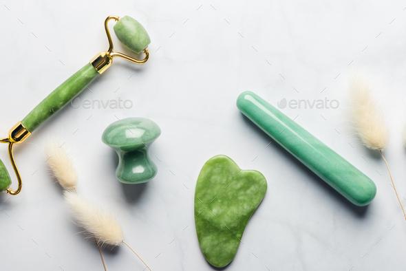 Set of Gua Sha massage tools - Stock Photo - Images