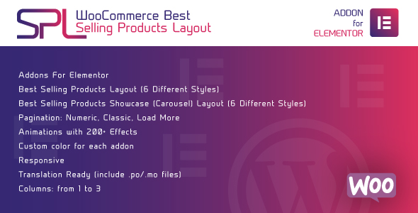WooCommerce Best Selling Products Layout for Elementor - WordPress Plugin