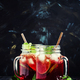Tea with hibiscus, fruit, mint and ice, selective focus - PhotoDune Item for Sale
