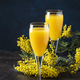 Classic alcohol cocktail mimosa with orange juice and cold dry champagne or sparkling wine - PhotoDune Item for Sale