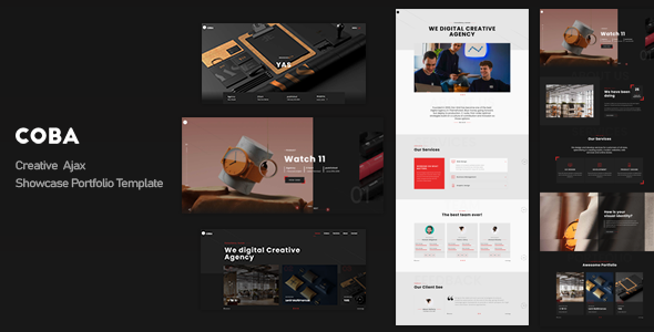 Coba – Creative Ajax Showcase Portfolio Template