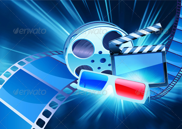 Abstract cinema background  - Decorative Vectors