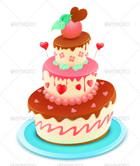 Tiered cake  - Food Objects