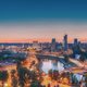 Vilnius, Lithuania, Europe. Sunset Cityscape. Modern Office Buildings Skyscrapers In Business - PhotoDune Item for Sale