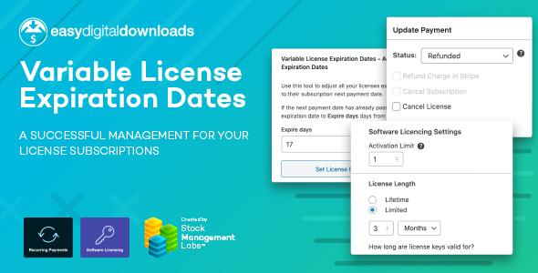 EDD Variable License Expiration Dates