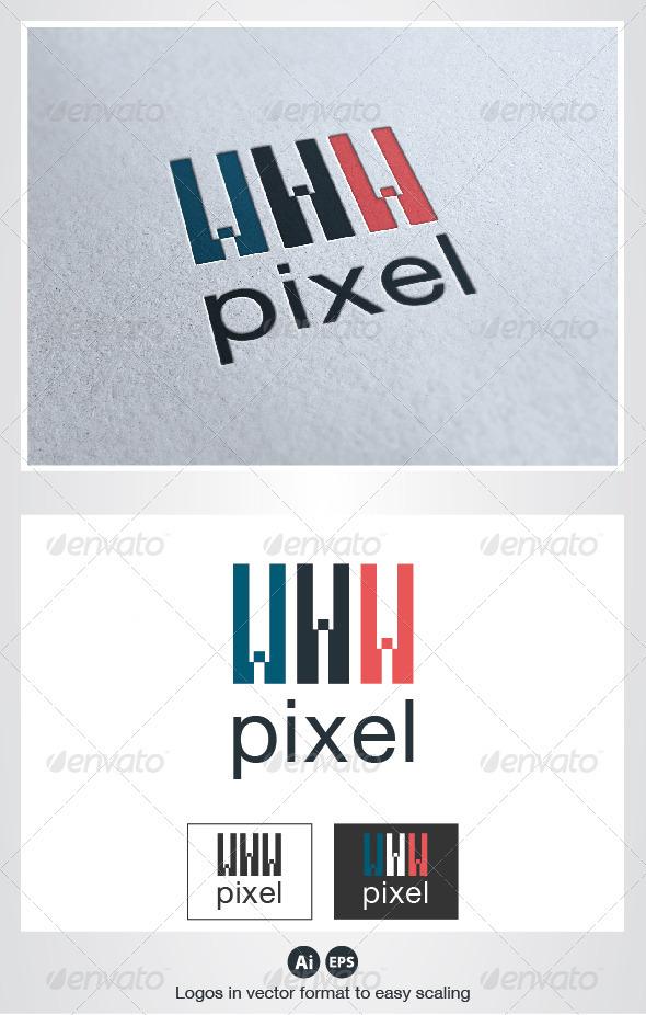 Pixel Web Logo - Letters Logo Templates