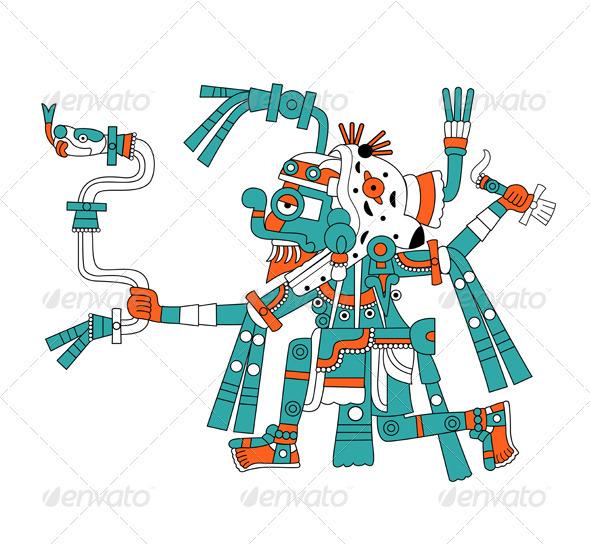 Mayan god of rain Tlaloc - Religion Conceptual