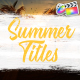 Colorful Summer Titles | FCPX - VideoHive Item for Sale