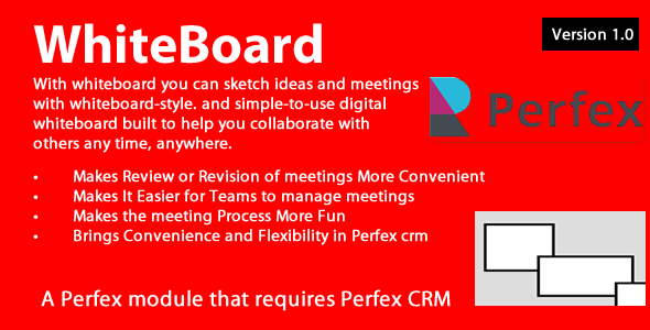 Whiteboard module for Perfex CRM
