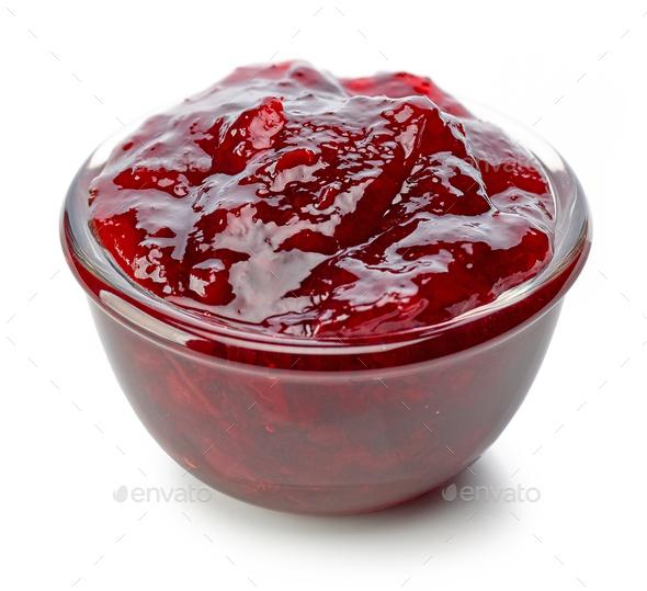 bowl of cherry jam - Stock Photo - Images