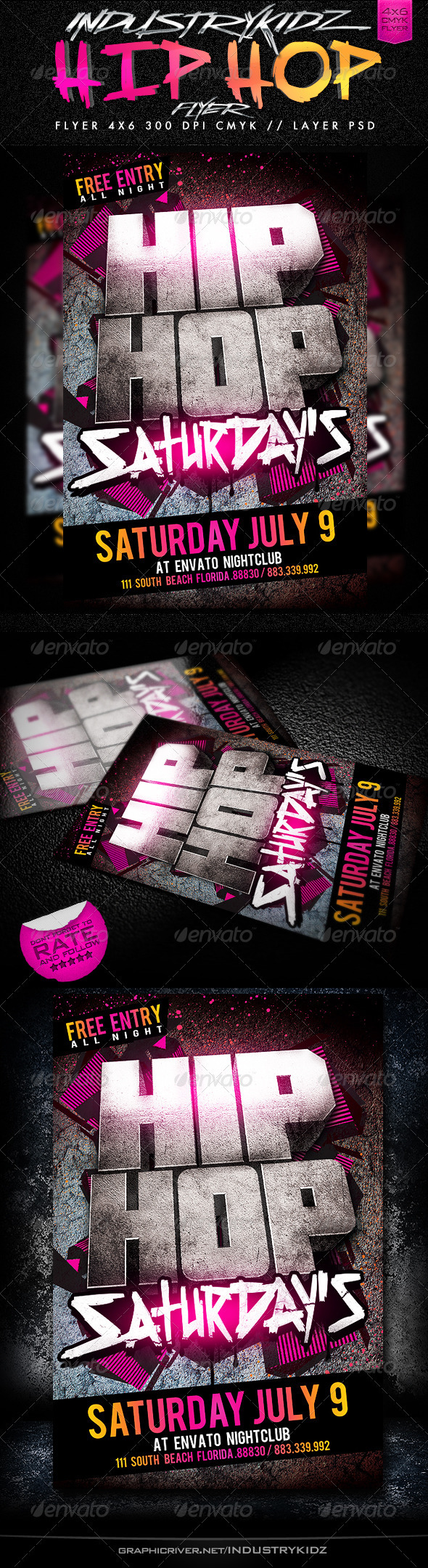 Hip Hop Saturdays Flyer - Events Flyers