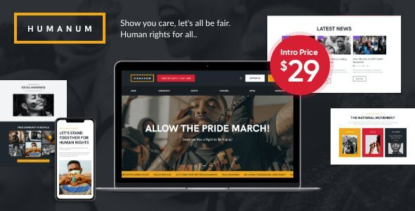 Humanum - Human Rights WordPress Theme
