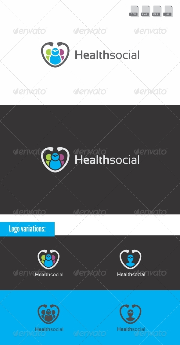 Health Social - Medical Logo - Humans Logo Templates