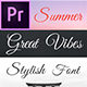 Great Vibes - Animated Typeface for Premiere Pro - VideoHive Item for Sale