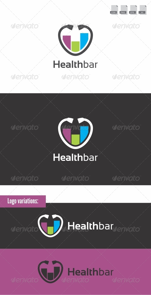 Health Bar - Medical Logo - Letters Logo Templates
