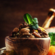 Healthy snack: raw nuts and dried fruit, decorated with mint - PhotoDune Item for Sale