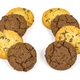 Different chocolate chips cookies in a rows - PhotoDune Item for Sale
