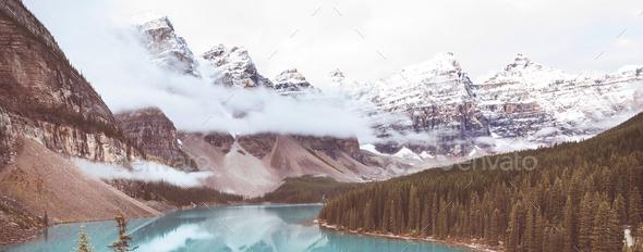 Moraine lake - Stock Photo - Images