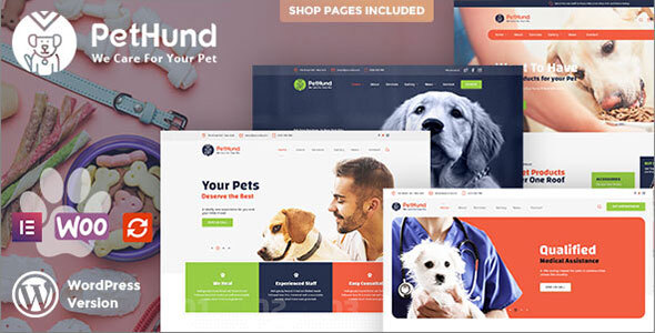 PetHund - Animals Shop & Veterinary WordPress Theme
