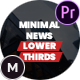 Minimal News Lower Thirds Pack for Premiere Pro - VideoHive Item for Sale