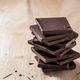 Chocolate Bars Stack on Wooden Table - PhotoDune Item for Sale